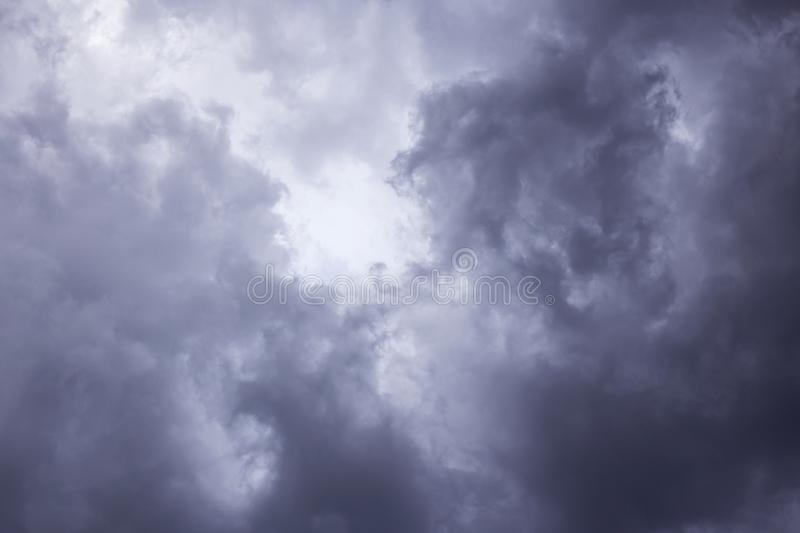 Epic Storm sky, dark clouds background texture. Epic scenic Storm sky, dark clouds background texture. Darkness and light royalty free stock photo