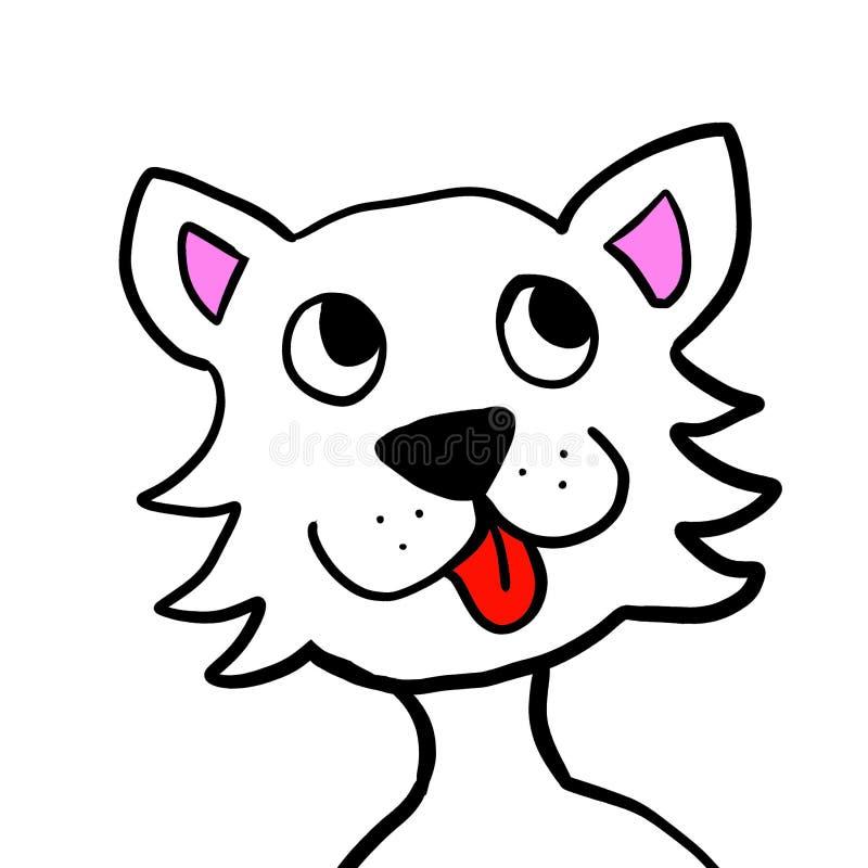 Epic White Dog vector illustration