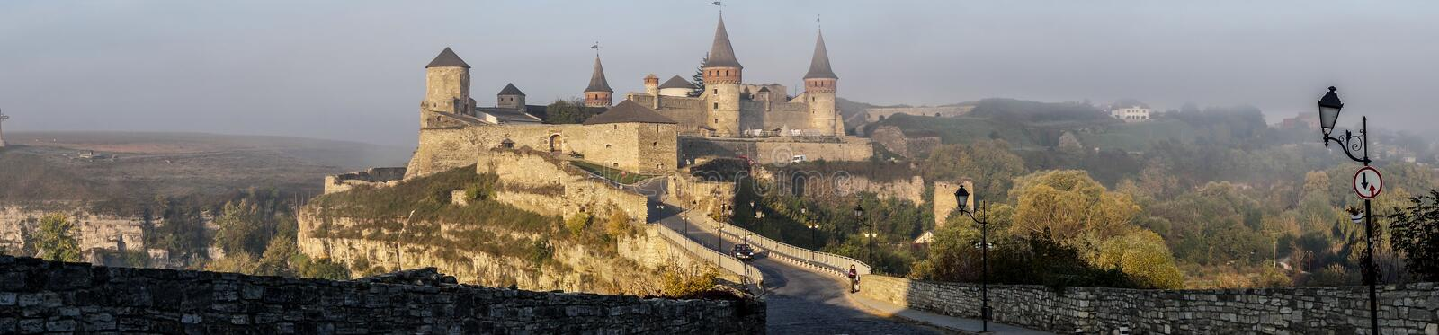Epic Wonder Medieval Kamianets-Podilskyi Castle – Panoramic stock images