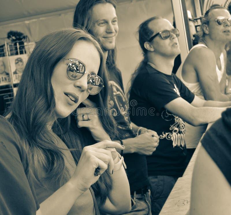 Epica metalu zespół zdjęcie stock