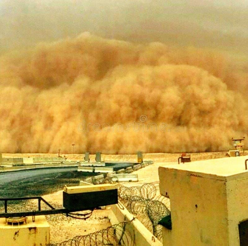 Epicki burza piaskowa kąt fotografia royalty free