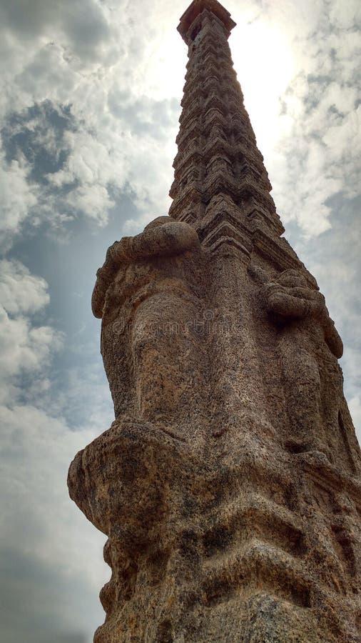 Epicki zabytek w Pondicherry zdjęcia stock