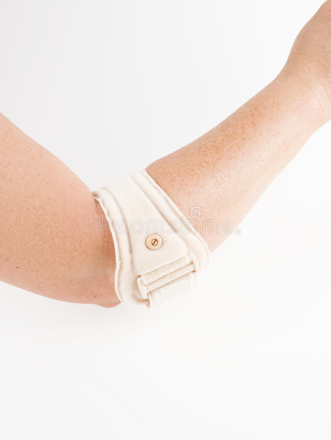 Epicondylitis brace, arm support royalty free stock photography
