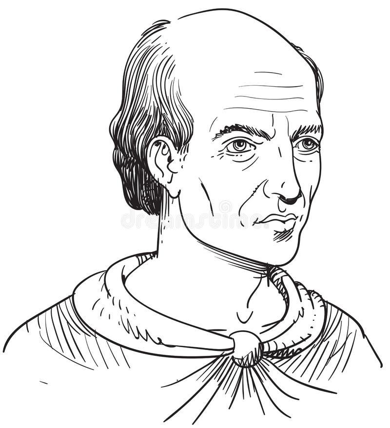 Epictetus, filozof, wektor royalty ilustracja