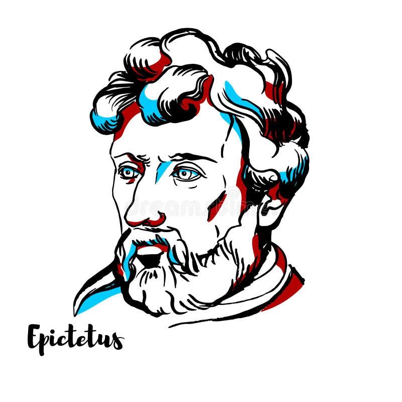 Epictetus portret ilustracja wektor