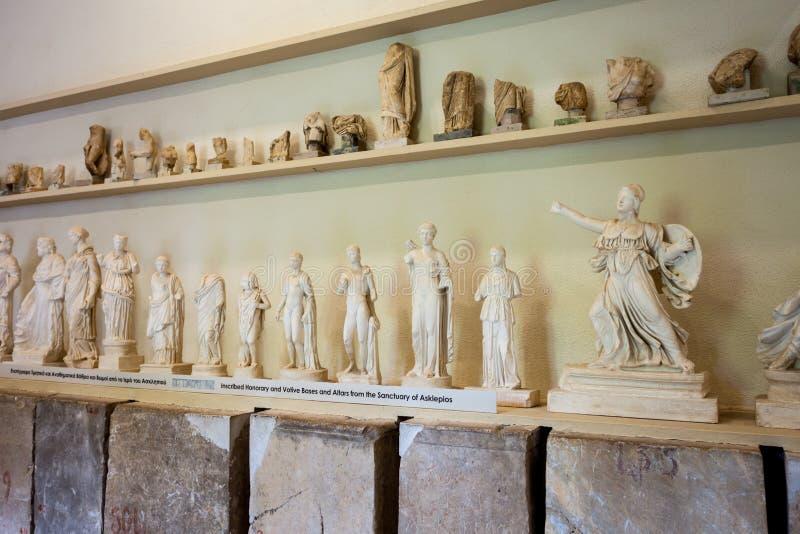 Epidaurus Archeologisch Museum, Griekenland stock foto