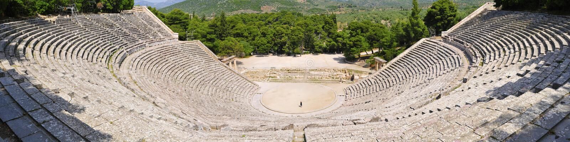 epidaurus Greece Peloponnese rujnuje teatr obraz royalty free