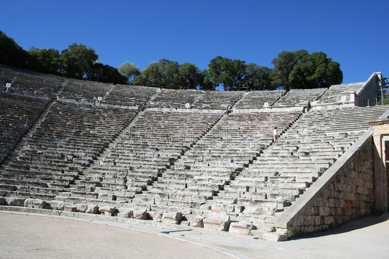 epidavros Greece Peloponnese obrazy stock