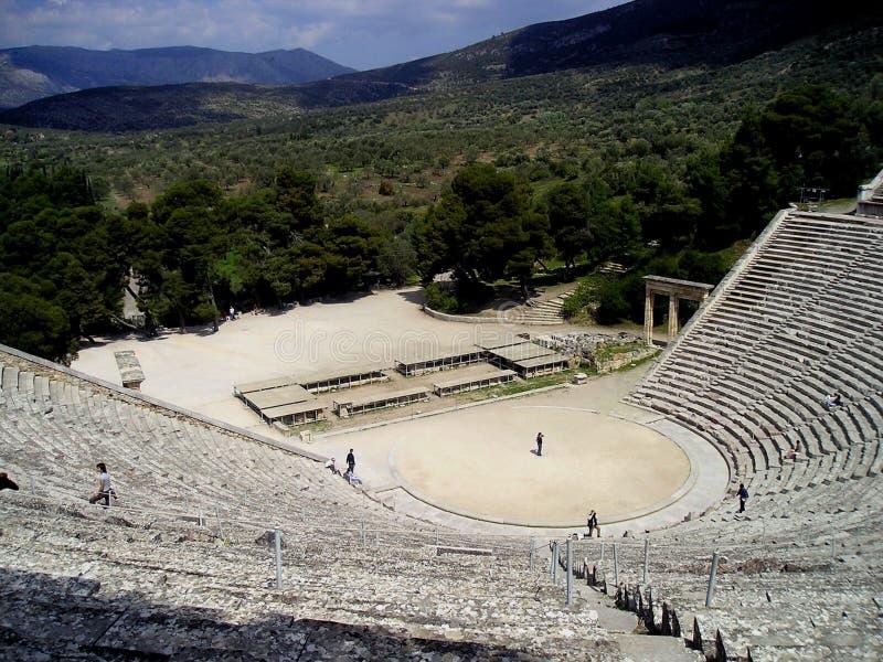 Download Epidavros theatre stock image. Image of italy, stones - 1496623