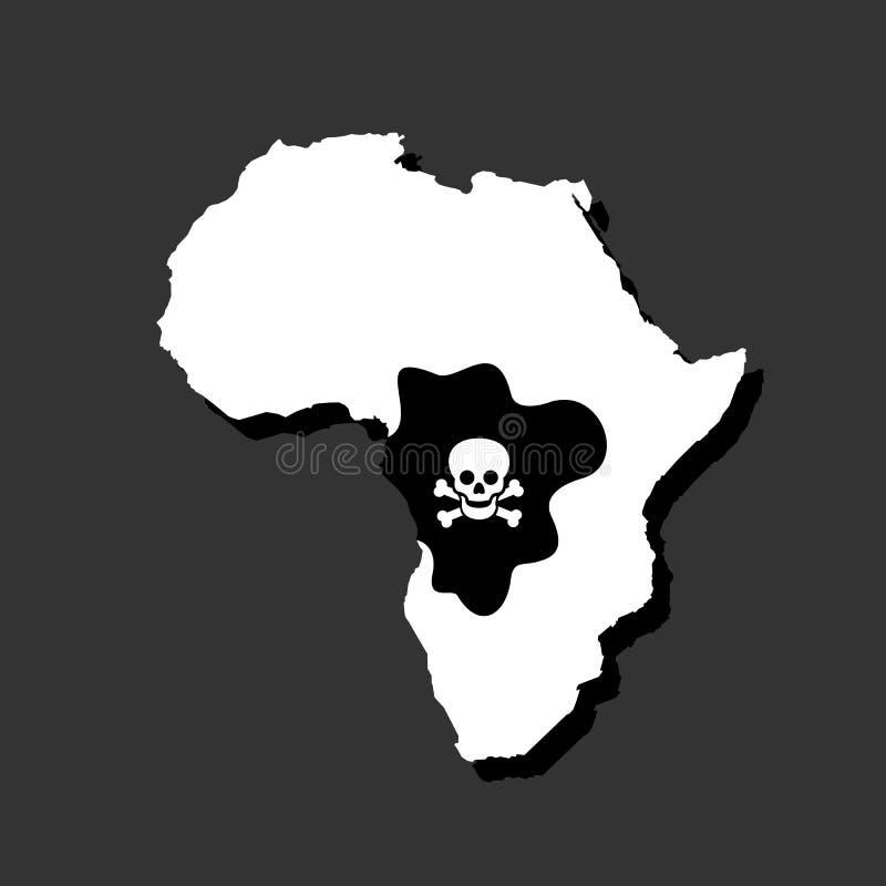 Epidemi och pandemi av Ebola i Kongofloden och Afrika stock illustrationer