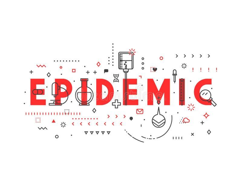 Epidemia del concepto de la medicina stock de ilustración