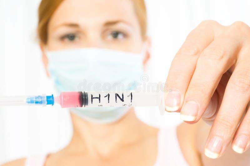 Epidemia. H1N1 fotografia stock