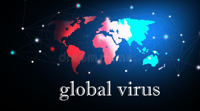 Epidemia lub zakażenie wirusowe ilustracja wektor