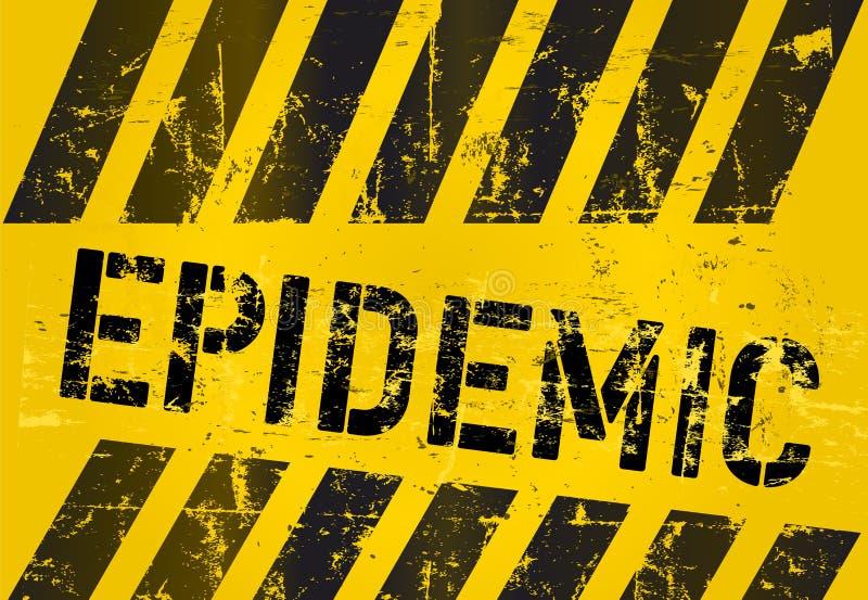 Epidemic sign. Virus alert sign, vector illustration royalty free illustration