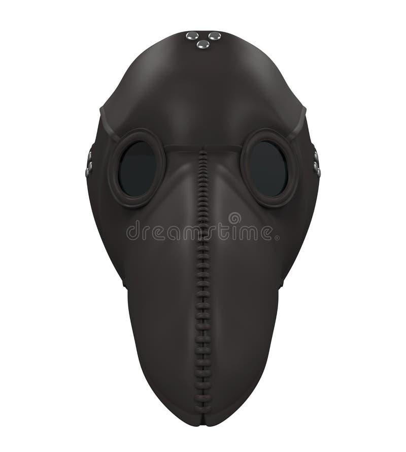 Epidemidoktor Mask Isolated stock illustrationer