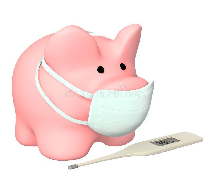 Epidemie einer Schweingrippe stock abbildung