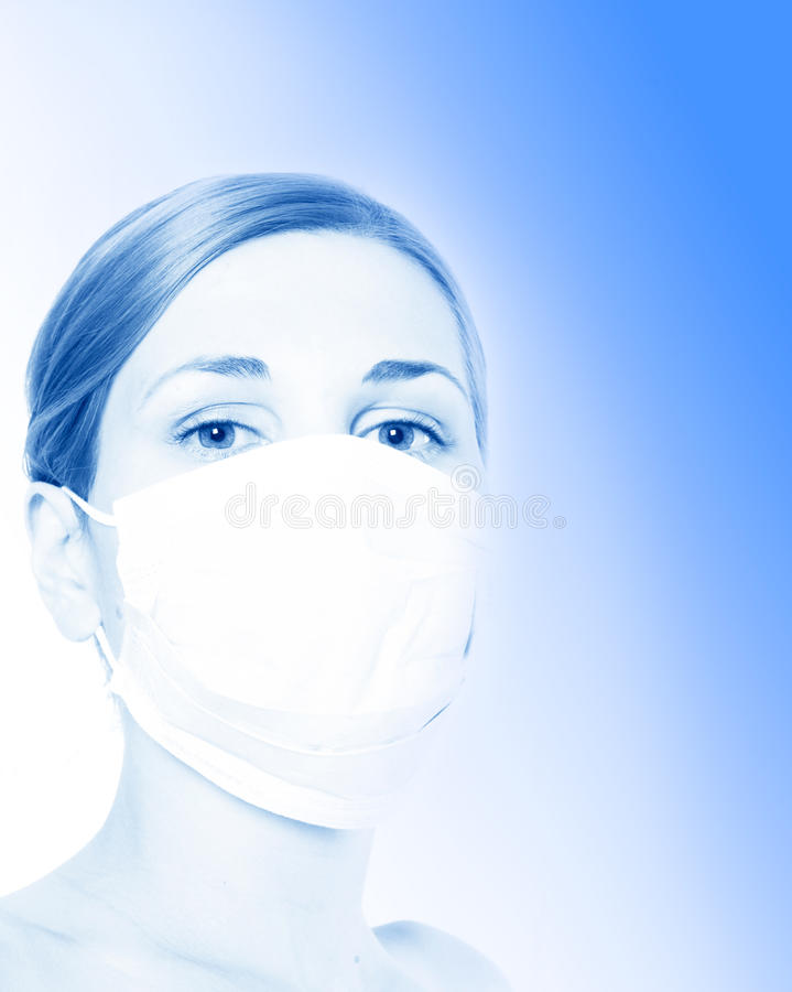 Epidemie. H1N1 stock foto's