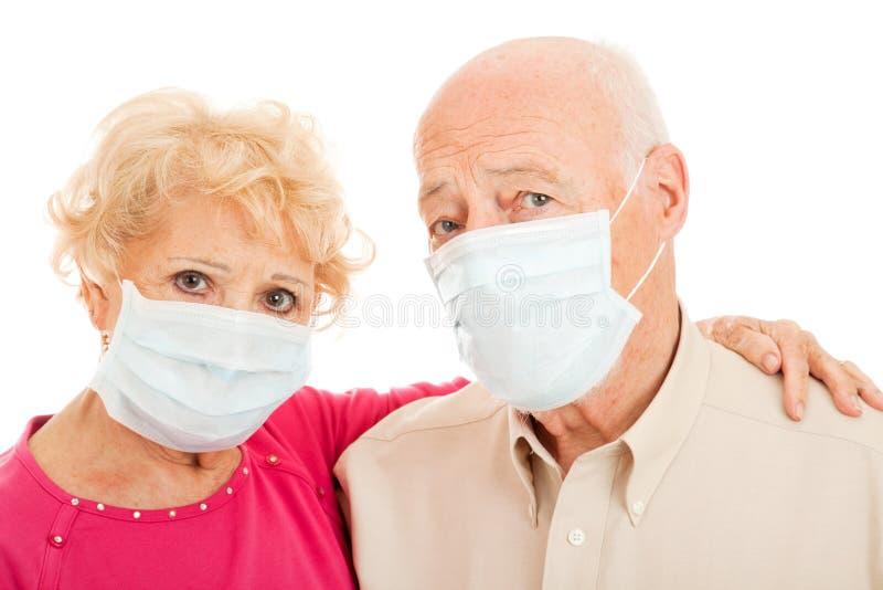 Epidemie - Schwein-Grippe-Ältere lizenzfreie stockfotos