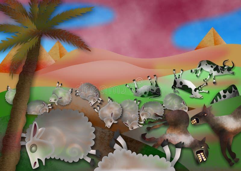 Epidemin av boskap vektor illustrationer