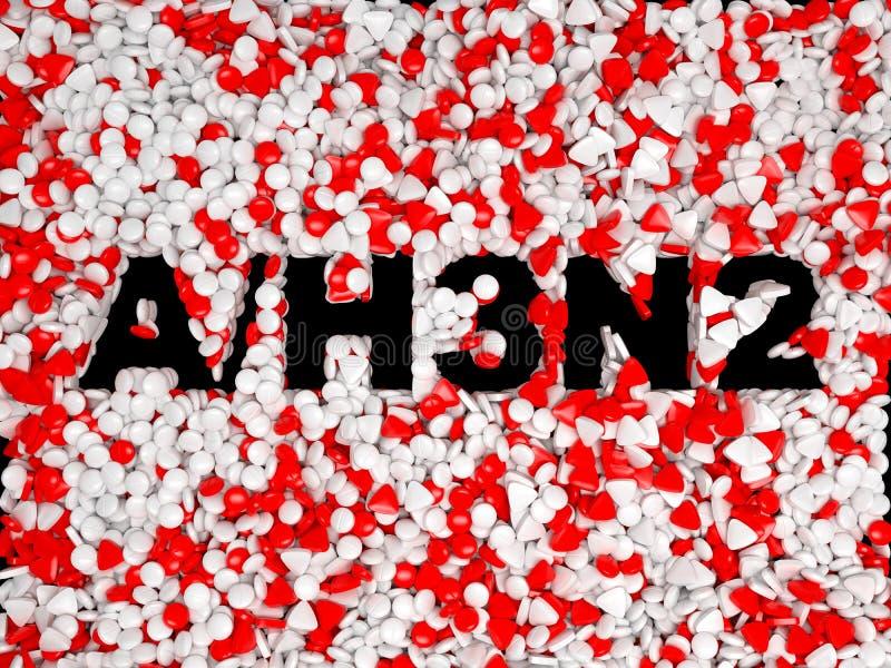 Epidemische de pillenachtergrond van de Griep van varkens H3N2 royalty-vrije illustratie