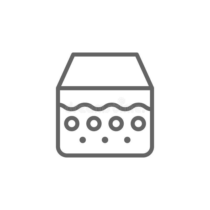 Epidermis, icono de la piel Elemento del icono del cuidado de piel L?nea fina icono para el dise?o y el desarrollo, desarrollo de stock de ilustración