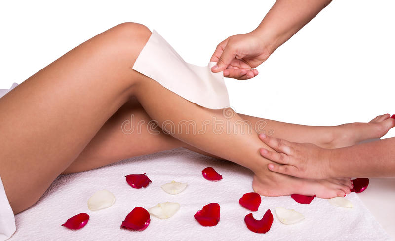 epilation stock fotografie