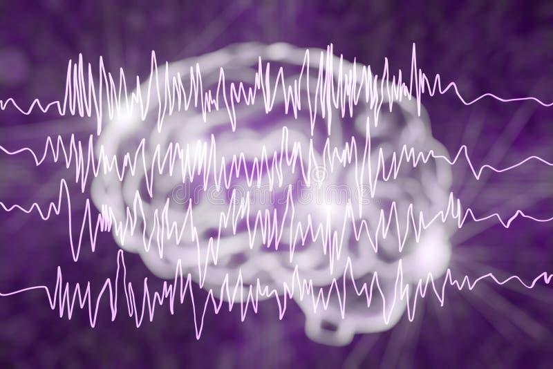 Epilepsi świadomości pojęcie ilustracja wektor