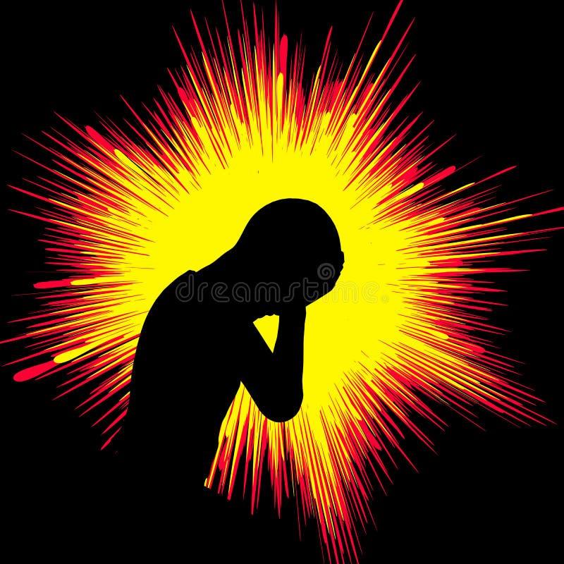 epilepsia stock de ilustración