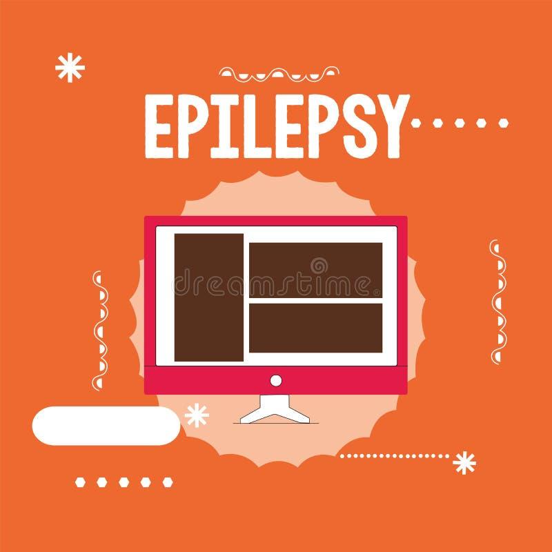 Epilepsia conceptual da exibição da escrita da mão Foto do negócio que apresenta em quarto a maioria de apreensão imprevisível co ilustração do vetor
