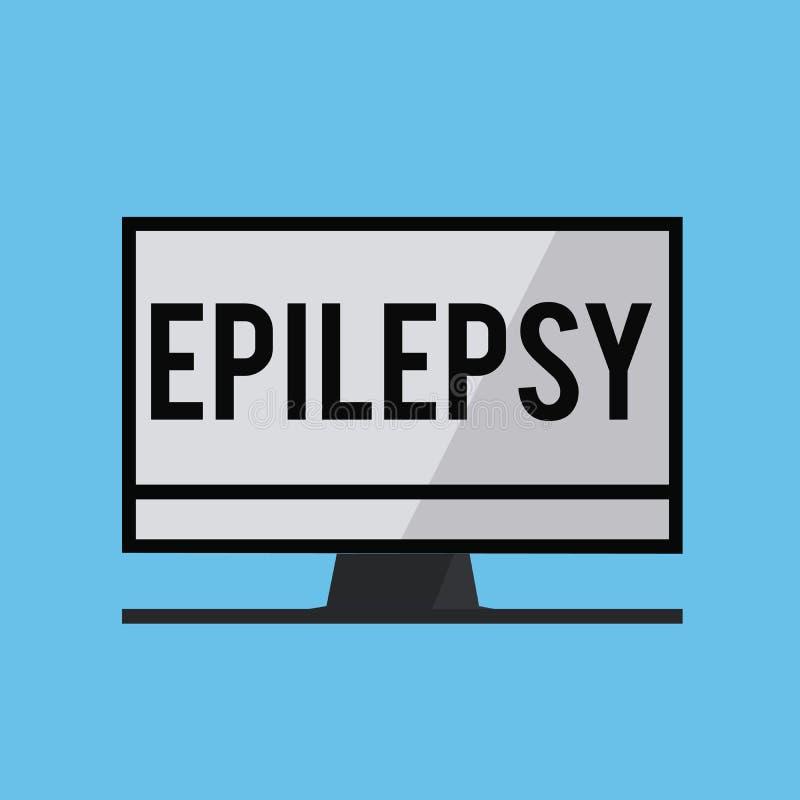 Epilepsia da exibição do sinal do texto Apreensões imprevisíveis as mais comuns da desordem neurológica da foto conceptual quarta ilustração royalty free