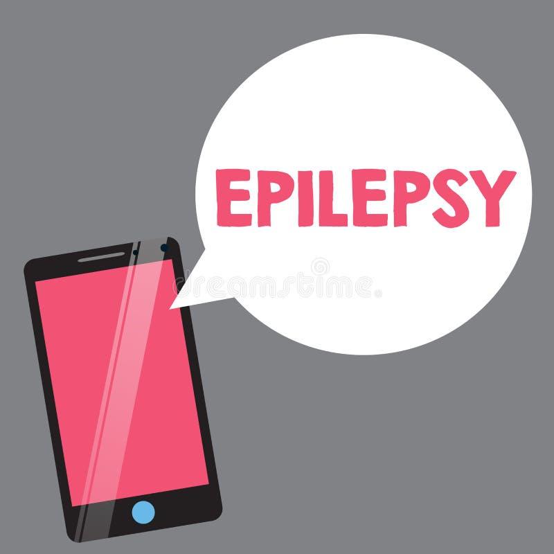 Epilepsia da exibição do sinal do texto Apreensões imprevisíveis as mais comuns da desordem neurológica da foto conceptual quarta ilustração stock