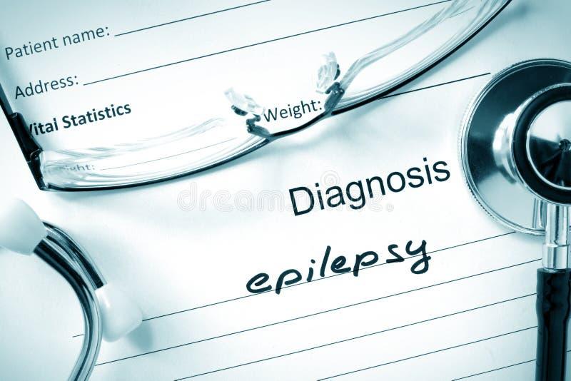 Epilepsia e estetoscópio do diagnóstico fotos de stock royalty free