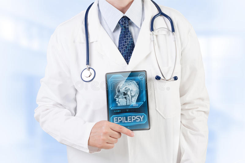 Epilepsy diagnosis stock photo