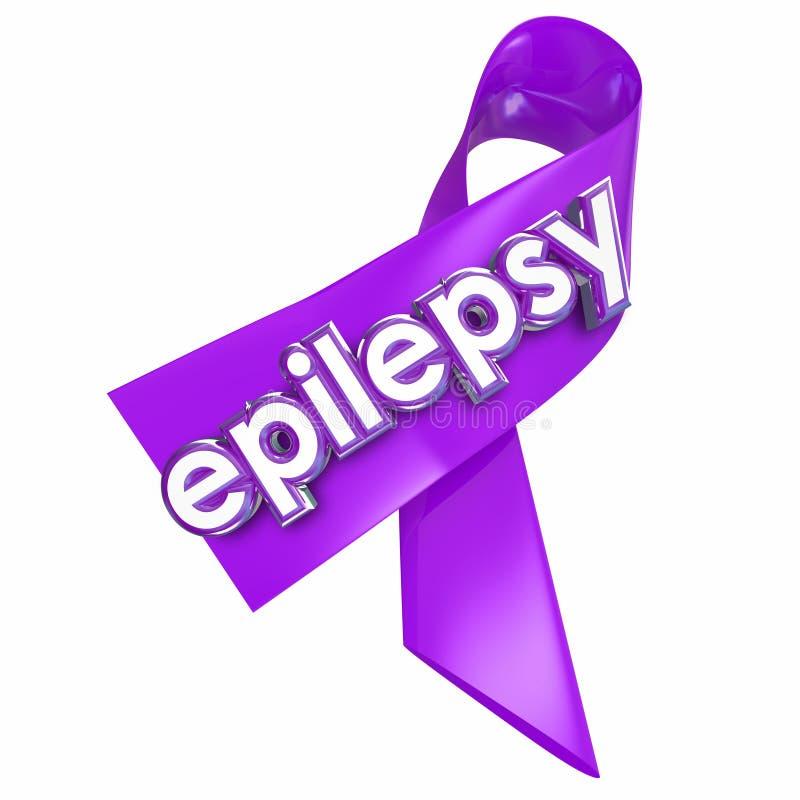 Epilepsy Purple Lavender Ribbon Cure Treat Health Care royalty free illustration