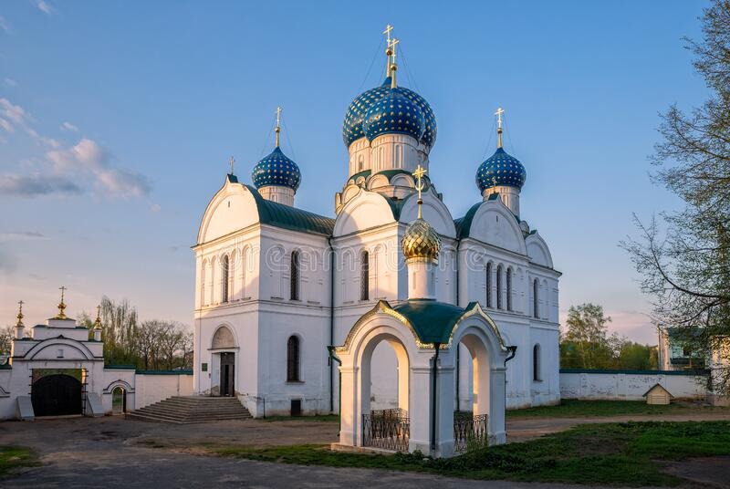 Epiphany Cathedral in Uglich stock images