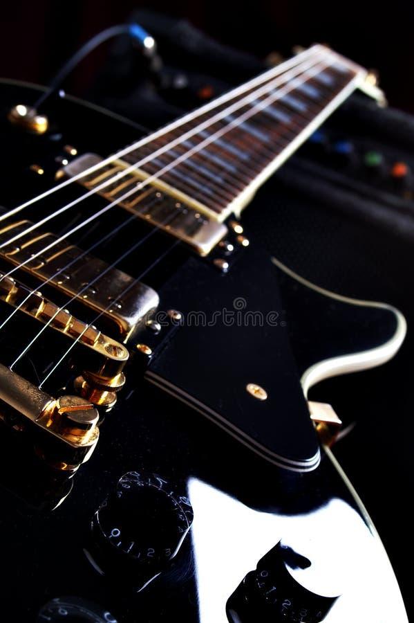 epiphone na gitarze les Paul obrazy stock