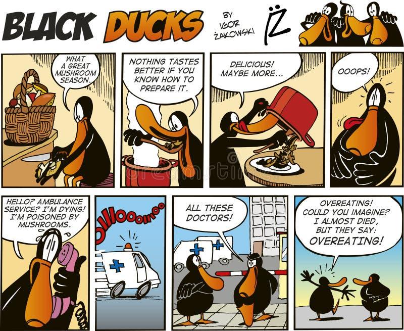 Episódio 65 da banda desenhada dos patos pretos ilustração stock