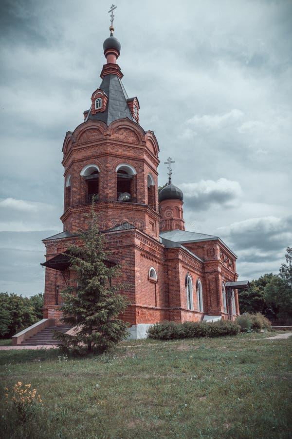 Episch beeld van Russische Orthodoxe Kerk stock fotografie