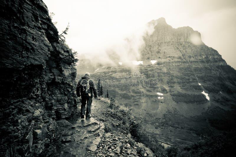 Epische Hinterwanderung am Glacier Nationalpark lizenzfreies stockbild