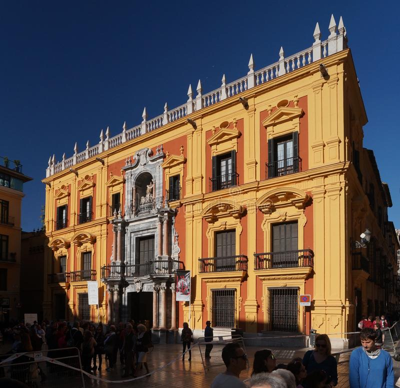 Episcopal Palace in the Andalusian city of Malaga, Spain. The Episcopal Palace across from the cathedral in the Andalusian city of Malaga, Spain stock photography