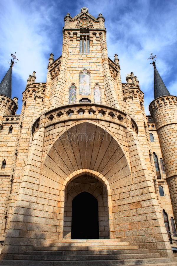 The Episcopal Palace In Astorga Stock Images