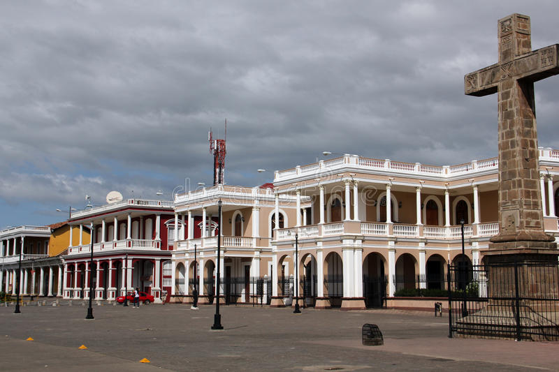 The Episcopal Palace, Granada, Nicaragua. Granada is a city in western Nicaragua and the capital of the Granada Department. It is Nicaragua`s sixth most populous stock photos