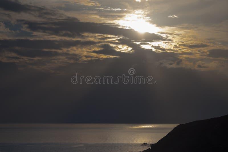 Episk solnedgång arkivfoton