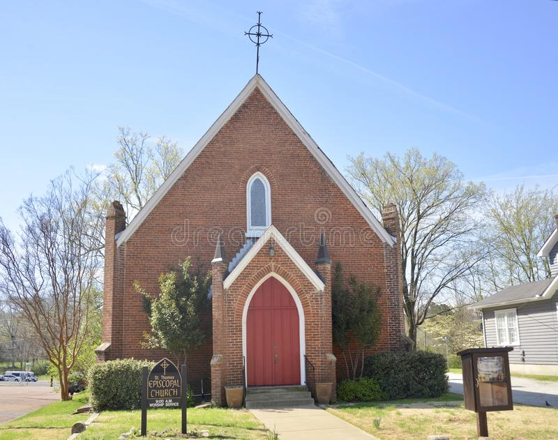 Episkopale Kirche in Somerville, TN lizenzfreies stockfoto