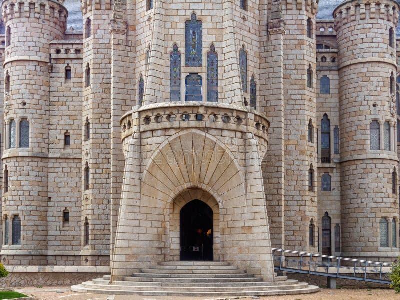 Episkopaler Palast - Astorga lizenzfreie stockfotografie