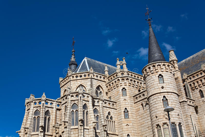 Episkopaler Palast, Astorga lizenzfreies stockbild