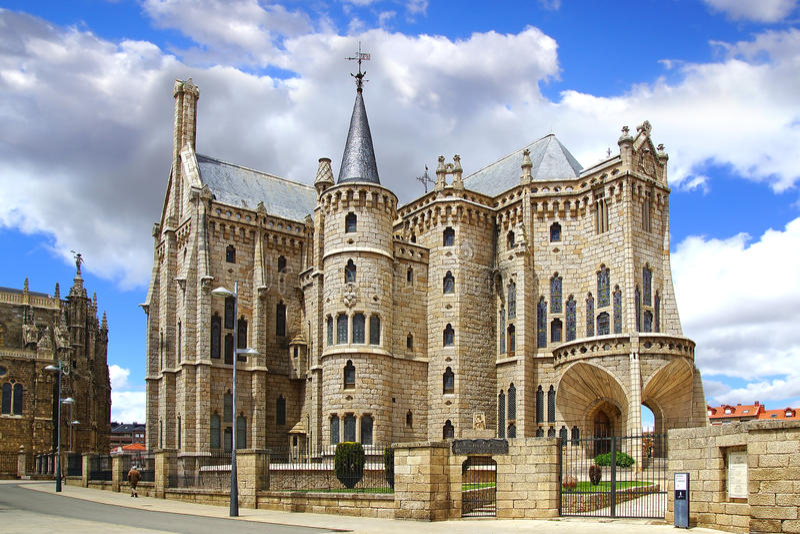 Episkopaler Palast, Astorga lizenzfreies stockfoto