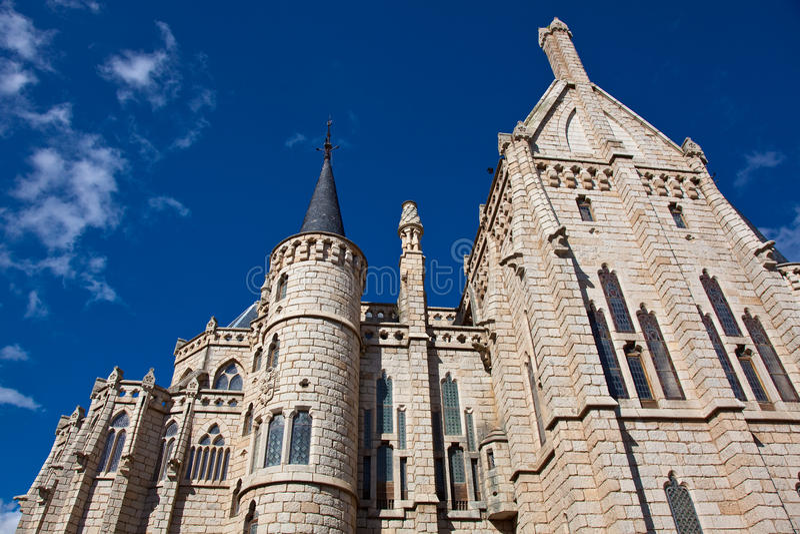 Episkopaler Palast, Astorga, Leon stockfotos