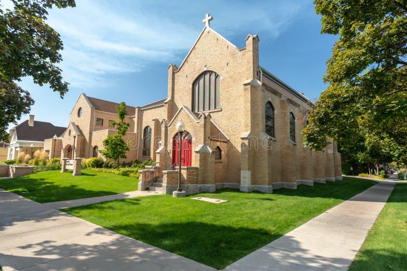 Episkopalkyrkan i Logan, Utah royaltyfri fotografi