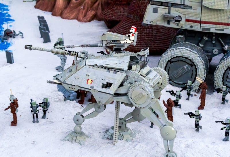 Episode III Kashyyyk und Mustafar, San Diego Legoland Star Wars Miniland stockfotos